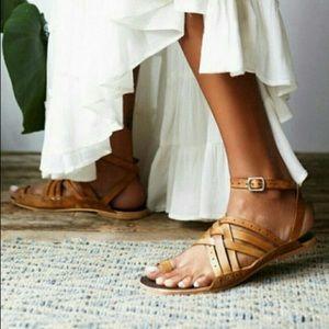 Free people tan strappy Belize sandal